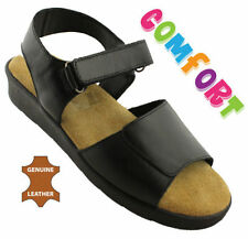 Hook and Loop Fasteners Leather Slingbacks Casual Sandals & Flip Flops for Women