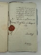 Lot of Old Documents 18-19C Friedrich Wilhelm König Von Preussen Werden Germany
