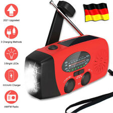 Solar Radio, AM/FM Kurbelradio Tragbar USB Notfallradio mit Handkurbel Dynamo DE