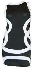 Black and White Fashionable Summer Fun Dress  UK Size 8