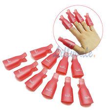 10 Wearable Soaker Wrap Cleaner Clip Cap GEL Polish Remover UV Acrylic Nail Art