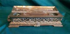 Vintage Antique Brass Desk Inkwell Needs Glass or China Inkwells