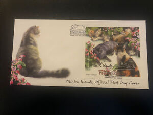 Pitcairn Islands 2002, FDC, Pitcairn Cats, Excellent Condition M/S
