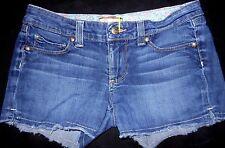 PAIGE PPD Women US 4 EUR 27 Silver Lake Short Denim Jean Shorts Frayed Hem
