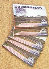 5 - 2014 Colorado Rockies pocket schedules Dugout Store back