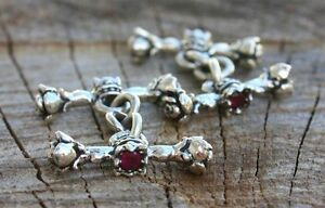 Custom Rose and Crown Cufflinks with Ruby Stones