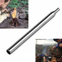 Outdoor Pocket Bellow Collapsible Fire Tool Camping Survival Blow Fire Tube HT