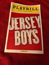 Jersey Boys April 2014 Broadway Playbill
