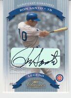 2002 Donruss Classics Gold Significant Signatures Ron Santo Chicago Cubs HOF 500