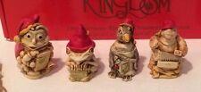 Nib Set of 4 Christmas Ornaments 1998 Harmony Kingdom Tjzse98 #5,749 of 10,000