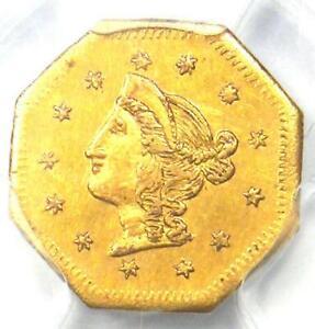 1870 Liberty California Gold Dollar G$1 Coin BG-1118 - Certified PCGS AU Detail!