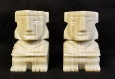 Aztec Marble Book Ends, 5 1/4 inches tall.