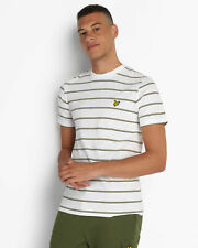 Lyle and Scott Mens Stripe T-Shirt - Cotton