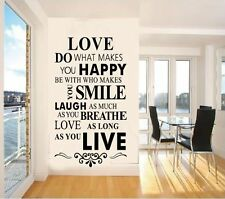 Quote English Letter Wall Stickers Removable Vinyl Art DIY Home Decor Murals