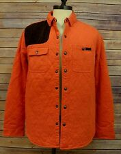 Mens Polo Ralph Lauren Quilted Jersey Oktoberfest Orange Shirt Jacket L GJ009