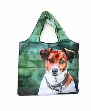 Country Matters Fold Away Pocket SHOPPER Shopping Bag - Jack Russell