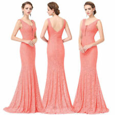 Ever-Pretty Bridesmaid Dress Long Lace V-Neck Mermaid Bodycon Prom Dresses 08833
