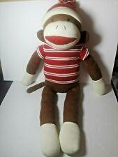 """Giant DanDee Jumbo Sock Monkey Collectible Plush Stuffed Animal ~ 37"""" DAN DEE"""