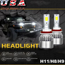 H8 H9 H11 High Power White 6000K Led High Low Beam Headlight Kit Fog Light Bulbs (Fits: Subaru)