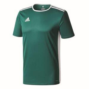 Adidas Kids Sports Football Soccer Short Sleeve Jersey Shirt Top Crew Neck Green