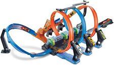 Hot Wheels FTB65 - Action Korkenzieher Crash Trackset und Rennbahn, Looping, 129