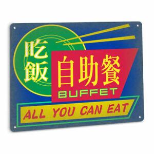 CYBERPUNK Buffet Metal SIGN Sci Fi Restaurant Cafe Hong Kong Chinese Decor Art