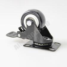 Polyurethane Wheel Castor (Brake) [Type:50mm (Black)]