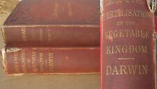 DARWIN Charles 1877 2 Books Fertilisation VEGETABLE KINGDOM Asa Gray DARWINIANA