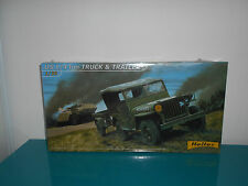 01.02.17.1 willys jeep US 1/4 Truck and trailer Heller maquette kit 1/35