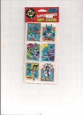 VINTAGE DC HEROES PUFFY STICKERS 1982 SUPERMAN,BATMAN AND ROBIN, JOKER NEW