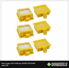5 Pack Aspirapolvere HEPA Filtro Particolato high-efficiency RICAMBIO PER IROBOT ROOMBA SERIE 500//600