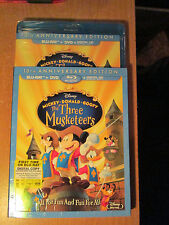 The Three Musketeers (Blu-ray/DVD,2014,2-Disc Set,Inc.Digi.)OOP Slipcover Disney