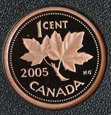 2005 Canada Classic design 1 cent coin in pure copper-  in proof finish