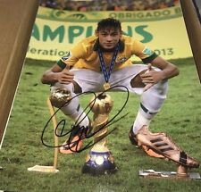 Neymar da Silva Santos Brazilian Soccer Star Signed 11x14 Photo Proof COA Look