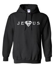 JESUS Superman HOODIE - S - 5XL - Christian Church God