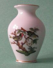HEREND China Baroness ROTHSCHILD BIRD BUTTERFLY Vintage Porcelain AMPHORA VASE