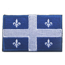 Canadian Quebec Flag Canada Military Army Tactical Morale Badge Subdued Patch