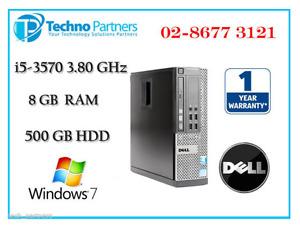 Dell Optiplex 9010 SFF Computer 3rd i5 3570 3.4G 8G 500G Win 7 Pro 1Yr Warranty