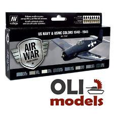 AIR WAR - US NAVY & USMC Colors 1940-1945  Paint Set 8x17ml - Vallejo 71157
