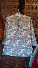 Bohemian Anokhi Block Print Indian Cotton Tunic /Kaftan Top sz S .rrp £38