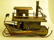 Vintage Brass Copper Music Box Steam Boat  Collectible Romantic, Home decor