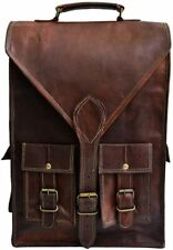 Handmade Convertible Leather Backpack Messenger Bag Office Briefcase Laptop Case