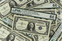 1957B Silver Certificate FR#1621 Granahan DIllon PMG CU 64 EPQ - CJB073