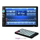 "7"" Double 2DIN Bluetooth Touch In Dash Car Stereo Radio MP3 Player FM/TF/USB/AUX"