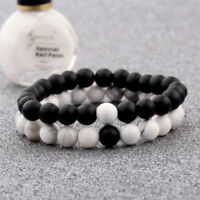 2Pcs/Set Couples Distance Bracelet Classic Natural Stone Bracelets Best Friend