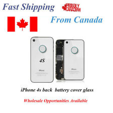 iPhone 4S 4GS Back Battery Glass Cover White