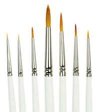 Royal Langnickel Paint Brushes Golden Taklon Detail 7pc Set RSETAMD Art Supplies