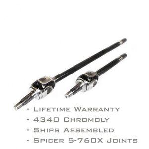 Infinity Series Chromoly Front Axle Shaft Pair for Jeep Dana 30 TJ  XJ 27 Spline