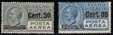 ITALIA REGNO 1927 Posta aerea, soprastampati 2v MH*