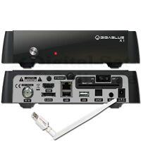 ► GigaBlue HD X1 Linux Full HD Sat Receiver USB PVR LAN HDMI WLAN 300 mbit/s